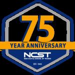 7th anniversary logo for new castle school of trades