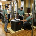 hvac students with instructor