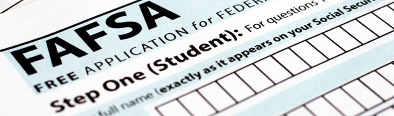 FASFA form used to apply for financial aid