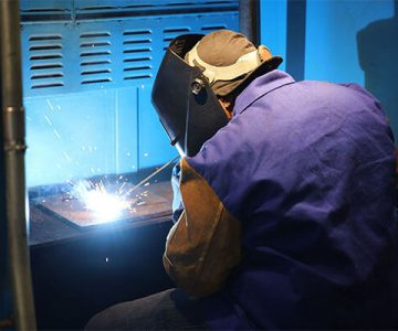 ncst welding student practicing a weld